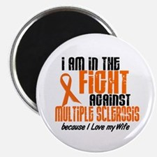 """In The Fight Against MS 1 (Wife) 2.25"""" Magnet (10"""