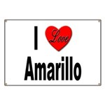 I Love Amarillo Banner