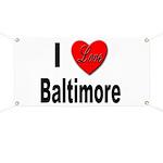 I Love Baltimore Maryland Banner