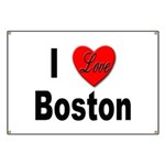 I Love Boston Banner