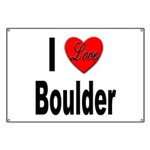 I Love Boulder Banner