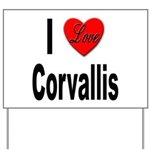 I Love Corvallis Yard Sign