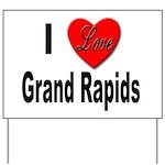 I Love Grand Rapids Michigan Yard Sign