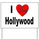 I Love Hollywood for Movie Lo Yard Sign