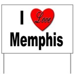 I Love Memphis Tennessee Yard Sign