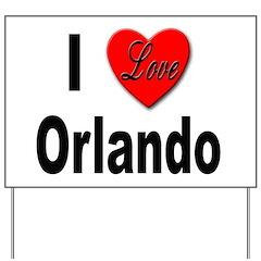 I Love Orlando Yard Sign
