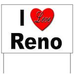 I Love Reno Nevada Yard Sign