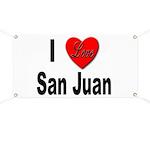 I Love San Juan Puerto Rico Banner