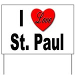 I Love St. Paul Minnesota Yard Sign