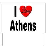 I Love Athens Greece Yard Sign