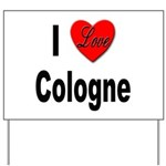I Love Cologne Germany Yard Sign