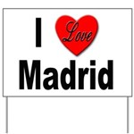 I Love Madrid Yard Sign
