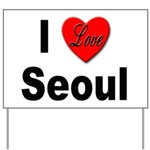 I Love Seoul South Korea Yard Sign