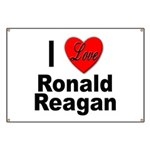I Love Ronald Reagan Banner