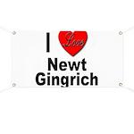 I Love Newt Gingrich Banner