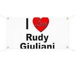 I Love Rudy Giuliani Banner