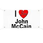 I Love John McCain Banner