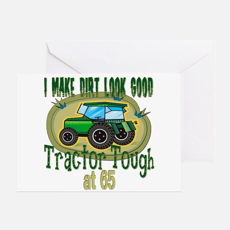 Tractor Tough 65th Greeting Card
