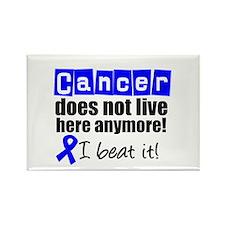 I Beat Cancer (Blue) Rectangle Magnet