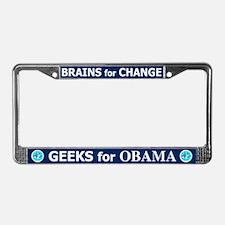 GEEKS FOR OBAMA License Plate Frame