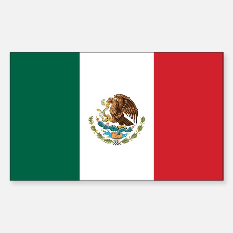 Flag of Mexico Rectangle Decal