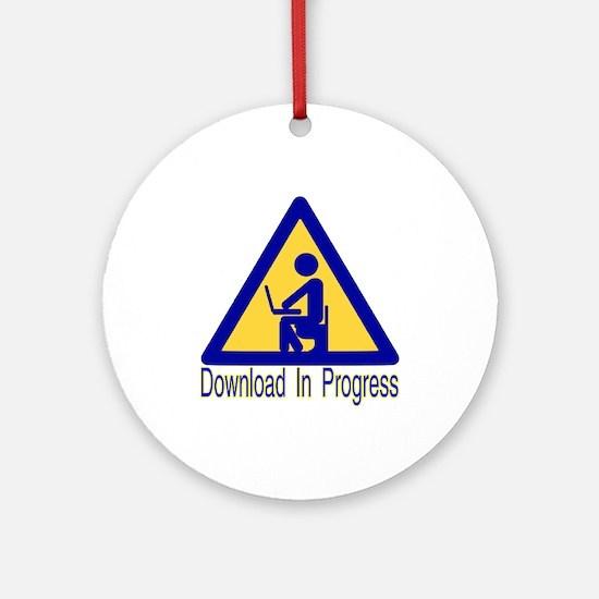 Crappy Download Ornament (Round)