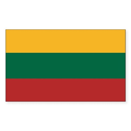 Flag of Lithuania Rectangle Sticker