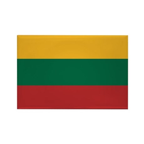 Flag of Lithuania Rectangle Magnet (10 pack)
