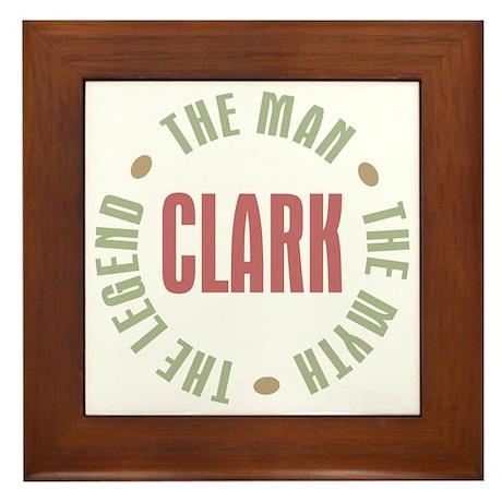 Clark Man Myth Legend Framed Tile