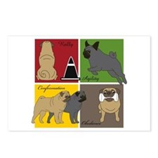 Pugs Do It All Postcards (Package of 8)