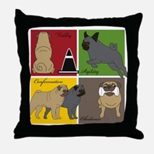 Pugs Do It All Throw Pillow