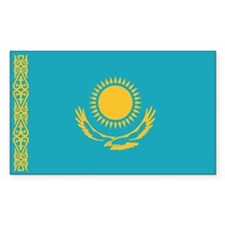 Flag of Kazakhstan Rectangle Decal