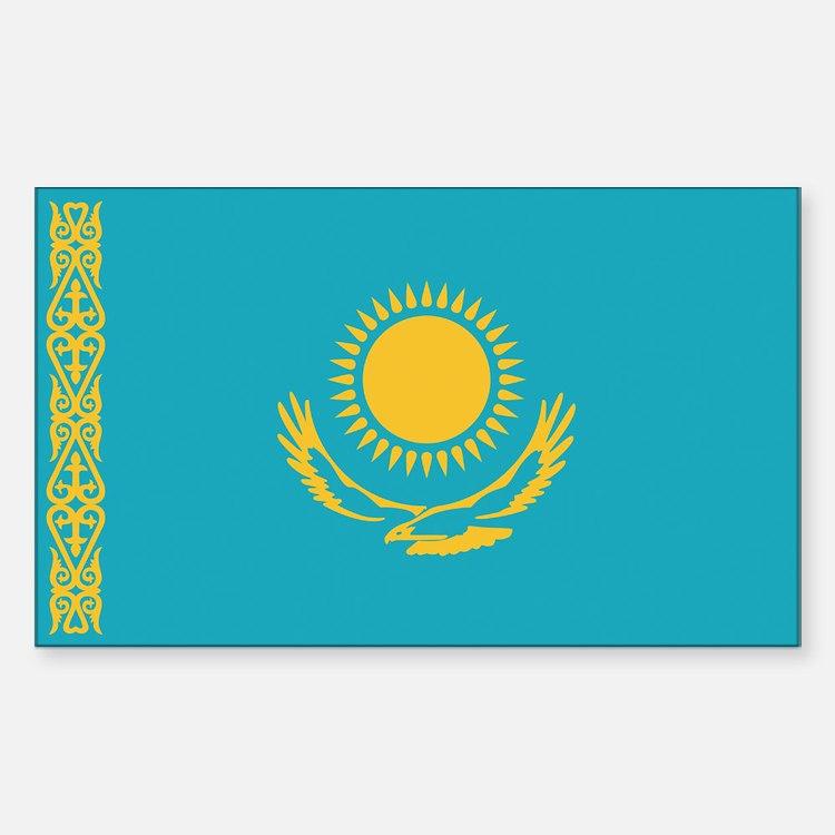 Flag of Kazakhstan Rectangle Decal