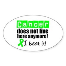 I Beat Cancer (Lymphoma) Oval Sticker (10 pk)