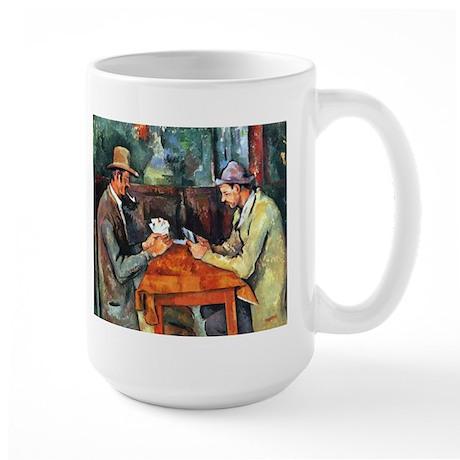 The Card Players Large Mug