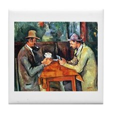 The Card Players Tile Coaster
