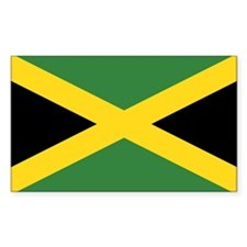 Flag of Jamaica Rectangle Decal