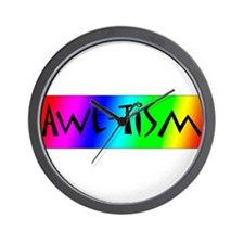 Autistic Awareness 3 Wall Clock