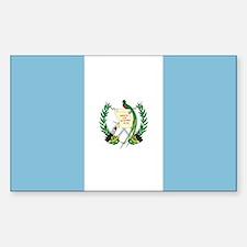 Flag of Guatemala Rectangle Decal