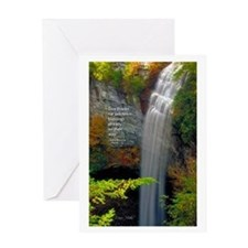 Waterfall Blessings Greeting Card