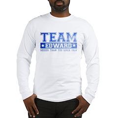 Team Edward (Sexy) - Blue Long Sleeve T-Shirt
