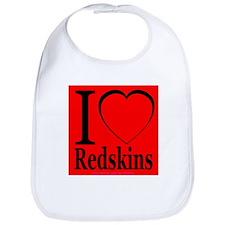 I Love Redskins Bib