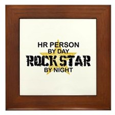 HR Rock Star by Night Framed Tile