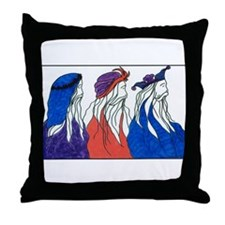 """The Three Wisemen"" Throw Pillow"