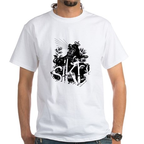 One SIKH. White T-Shirt