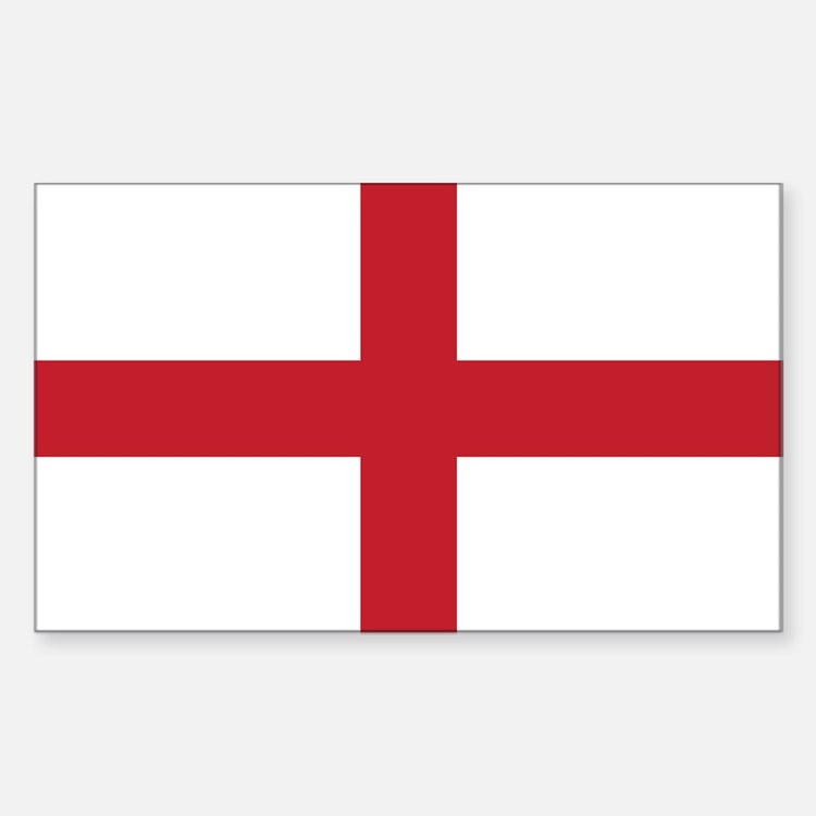 Flag of England Rectangle Decal