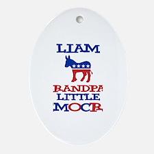 Liam - Grandpa's Democrat Oval Ornament