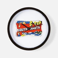 South Dakota Greetings Wall Clock