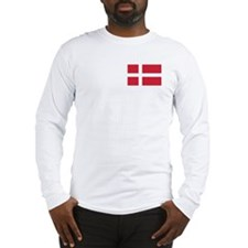 Flag of Denmark Long Sleeve T-Shirt