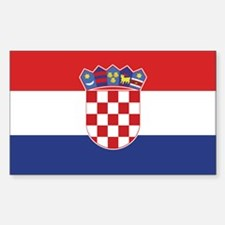 Flag of Croatia Rectangle Sticker 10 pk)
